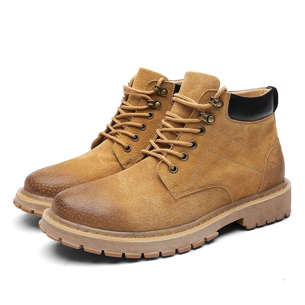 Oudan Herren Stiefel, Echtes Echtes Echtes Leder Freizeit Lace up Arbeitsstiefel (Farbe   Khaki, Größe   40 EU) (Farbe   Braun, Größe   44 EU) 78e84c
