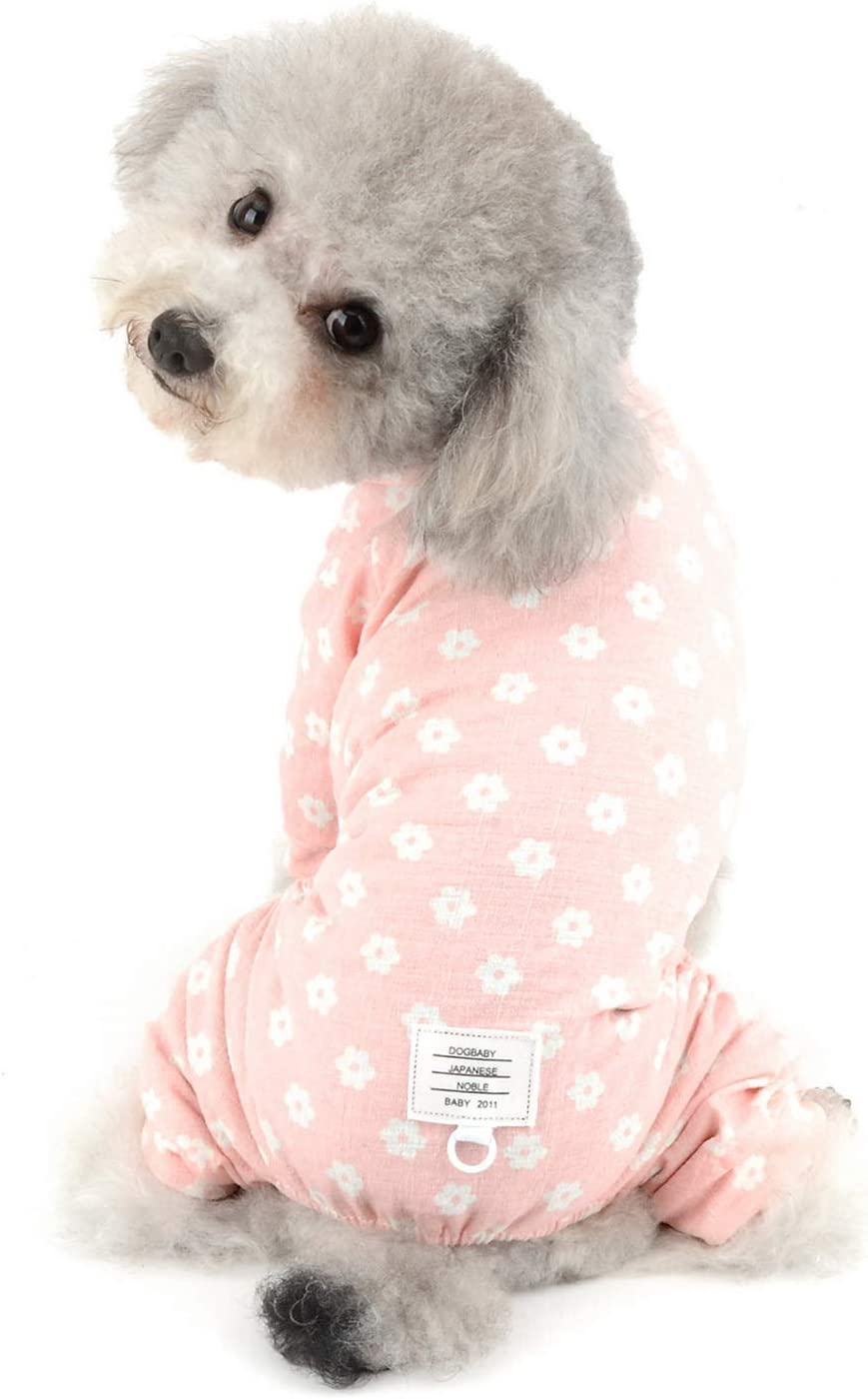 Puppy Dog Pajamas,Pet Sleepwear Shirt Dog Pajamas Soft Puppy Cat Clothes Dogs Clothing Pet Outfits with Lapel and Button Design
