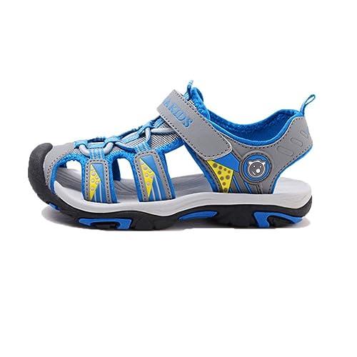 8ca6a626d De Verano para Niños de Sandalias Niños Pisos Transpirable Anti-resbaladizo  Niños Niñas Cerrado Dedo del pie Zapatillas Zapatos  Amazon.es  Zapatos y  ...