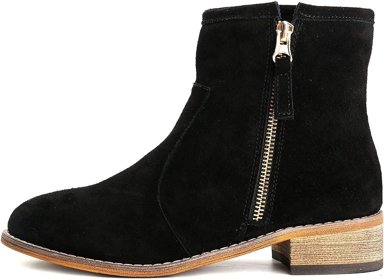 Alexis Leroy Zapatos con Cremallera - Botines Chelsea de Cuero Mujer