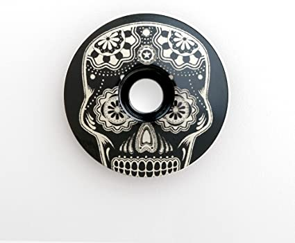 KustomCaps Sugar Skull Headset Cap w// Bolt through the eye