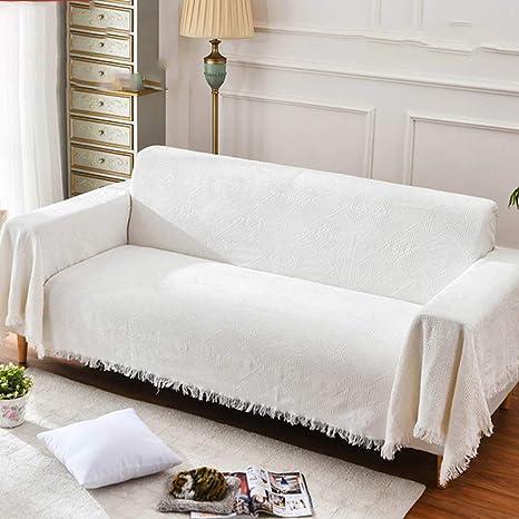 WENROUMIAO-SFJ Color sólido para Hacer Punto Toalla de sofá ...