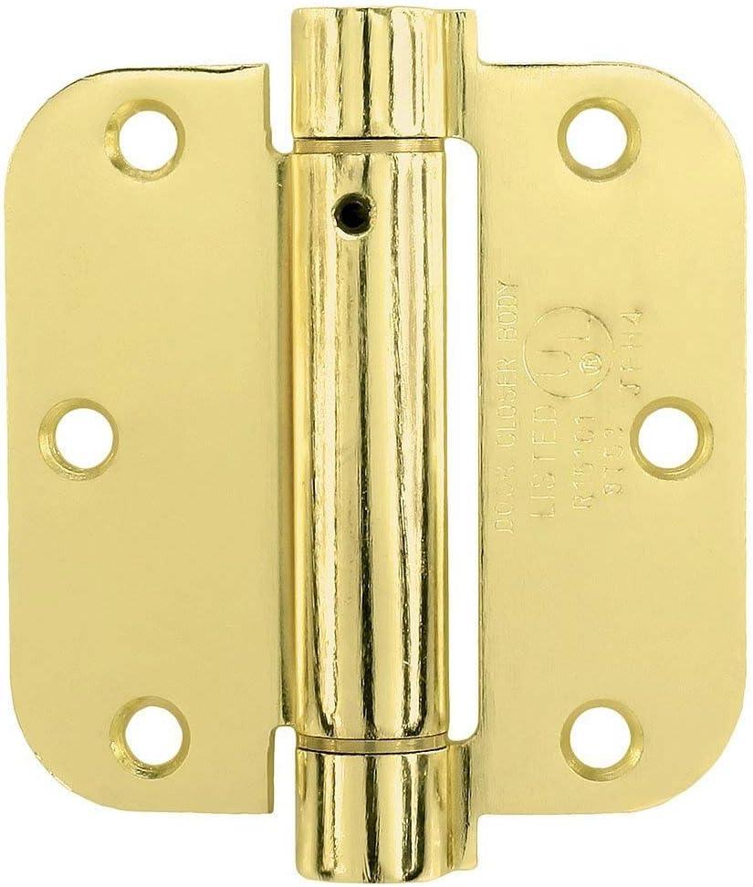 Brass Adjustable Spring Hinge 3 1//2-inch by 5//8-inch Radius