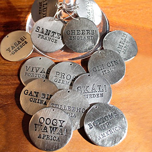 Old River Road Round Cheers Wine Charms