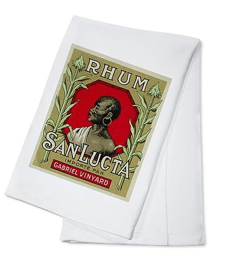 Rhum San lucta marca etiqueta de Ron (100% algodón absorbente toalla de cocina (
