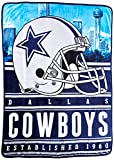 """Northwest Officially Licensed NFL Dallas Cowboys Stacked Silk Touch Throw Blanket, 60"""" x 80"""""""