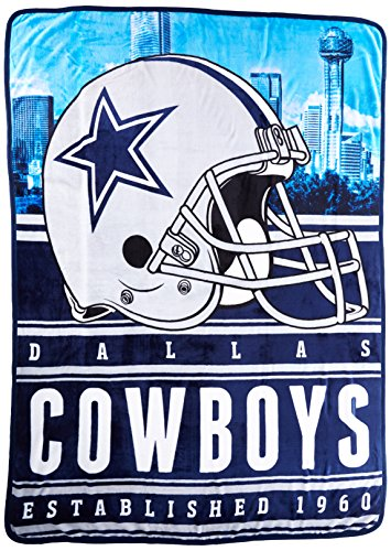 "Officially Licensed NFL Dallas Cowboys Stacked Silk Touch Throw Blanket, 60"" x 80"""