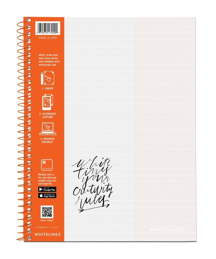 "Bulk Whitelines Wirebound Lined Notebook, 11""x8.5"", 70 Sheets: Roaring Spring 17000 (12 Lined Notebooks)"