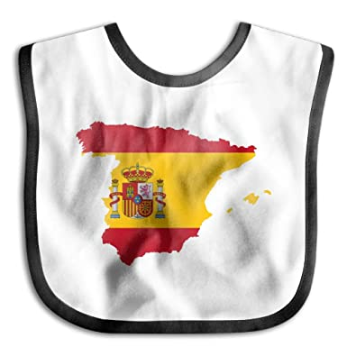 312e2301e Amazon.com  Baby s Spain Map Flag Yellow Red Little Me Baby Boy ...