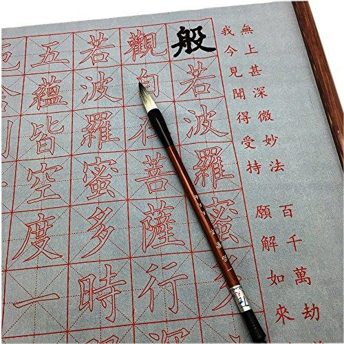 Practicing Chinese Calligraphy G Copybook, Chinese Character Copybook, 2 Meters Chinese Character Heart Sutra, Free 1 Pcyipin Ziyang Brush