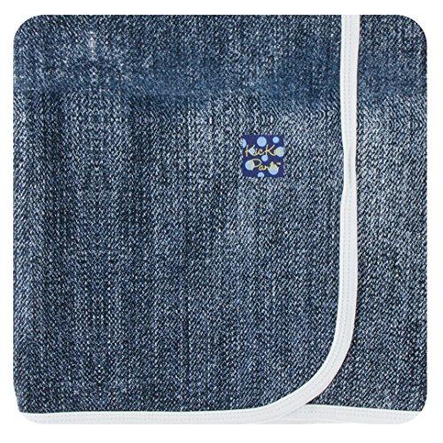 Kickee Pants Little Boys Print Swaddling Blanket - Denim, One Size
