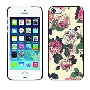 """For Apple iPhone 5 / iPhone 5S Case , Begonia floral rústica de la vendimia del papel pintado"""" - Diseño Patrón Teléfono Caso Cubierta Case Bumper Duro Protección Case Cover Funda"""