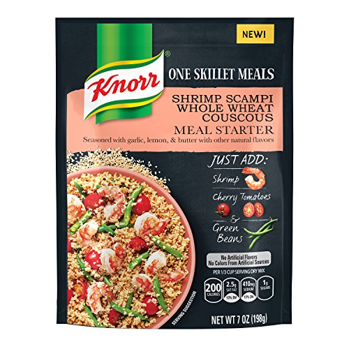 Knorr One Skillet Meals Meal Starter, Shrimp Scampi Whole Wheat Couscous 7 oz - Garlic Shrimp Scampi