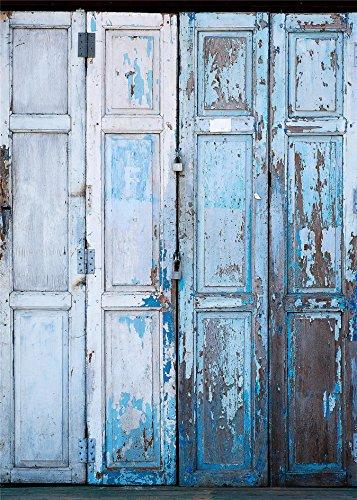 Kooer 5x7ft Old Folding Door Photography Backdrops The Weathered Door Photography Backgrounds Photo Studio Prop Baby Children Family Photoshoot Backdrop Customized Various (Smurf Ideas For Halloween)