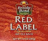 Brooke Bond Red Label Black Tea Bags, 2-Pack of 100 Tea Bag Boxes (14 oz / 400 g)