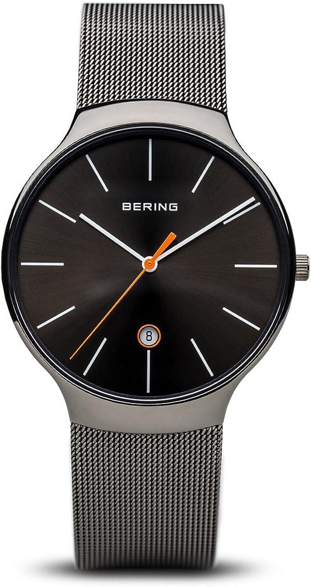 BERING Reloj Analógico para Unisex de Cuarzo con Correa en Acero Inoxidable 13338-077