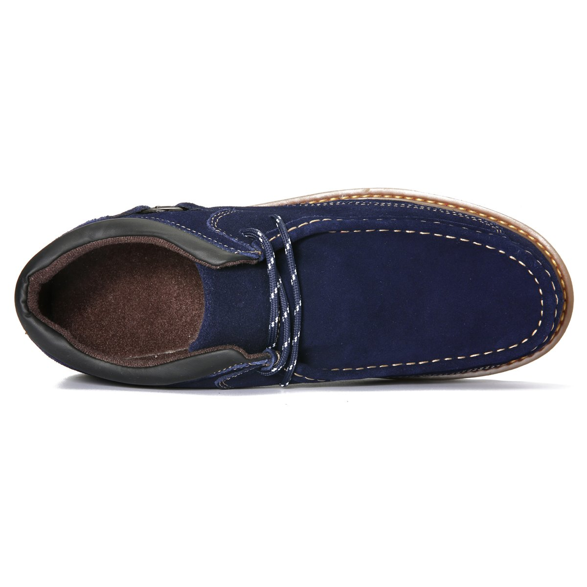 pretty nice 642e7 37d79 Amazon.com   gracosy Suede Casual Shoes, Men Classic Retro Sewing Boots,  Lace Up Leather Casual Shoes   Oxfords