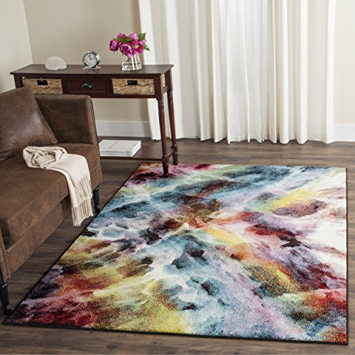 Safavieh Galaxy Collection GAL110A Vibrant Abstract Watercolor Multicolored Area Rug (5' x 8')
