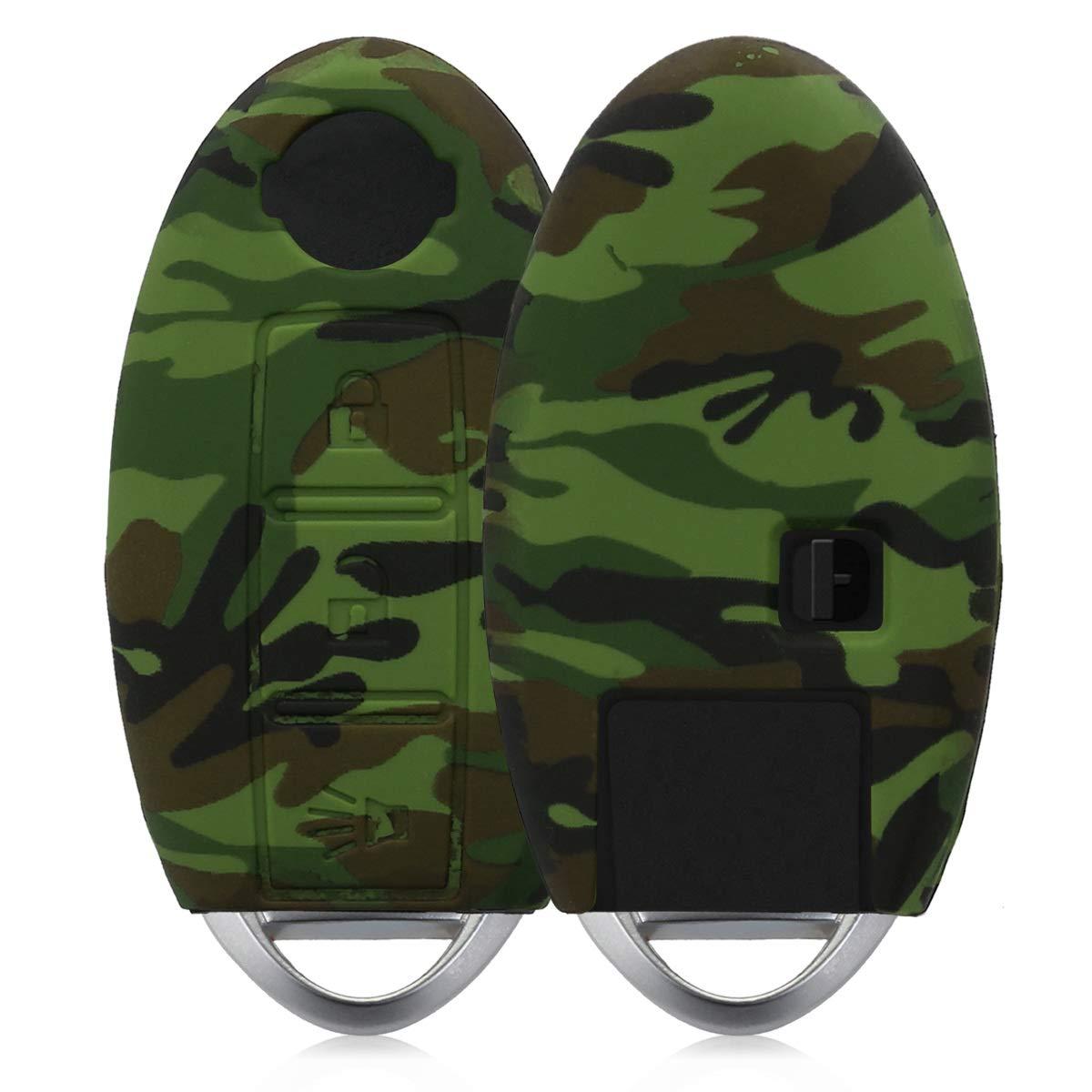 kwmobile Cover chiave auto per Nissan - protezione in silicone - Guscio protettivo coprichiave - Custodia per chiave Nissan con 3 tasti KW-Commerce 41618.01_m000691