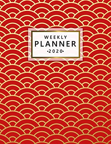 2020 Weekly Planner: Pretty Daily & Weekly Planner, Agenda and Organizer with To-Do's, Funny Holidays & Inspirational Quotes, Vision Boards, 20+ Notes Pages & More - Nifty Abstract Japanese Art Print ()