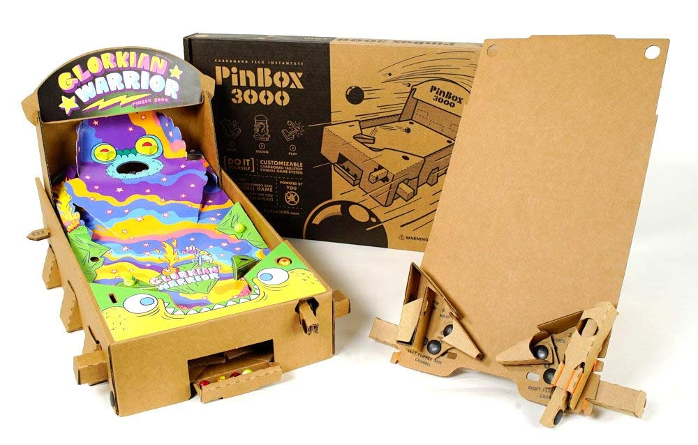 Glorkian Warrior – PinBox 3000 Gamechanger拡張 カスタマイズ可能なDIY Stemおもちゃfor Boys and Girls   Build Your Own段ボールピンボールゲームキット   B07C2YBZBY