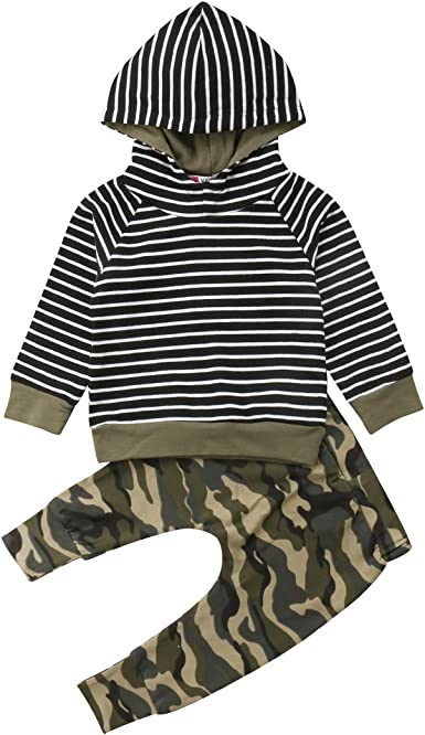 SSUPLYMY Toddler Baby Boy Tracksuits Clothes Set Shorts Cool Sport Summer Outfits Sets Camouflage Hooded Pullover Tops with Jogger Shorts Pants Sleeveless Tank Tops
