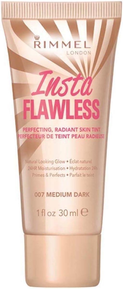 Three Pack Rimmel Foundation Insta Flawless Skin Tint 3x30ml Medium Dark 007: Amazon.es: Belleza