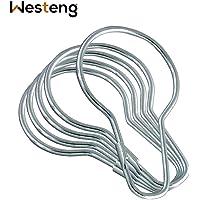 westeng Duschvorhang Ringe Bad Vorhang Stab Haken Silber Metall Haken Ringe 50Stück