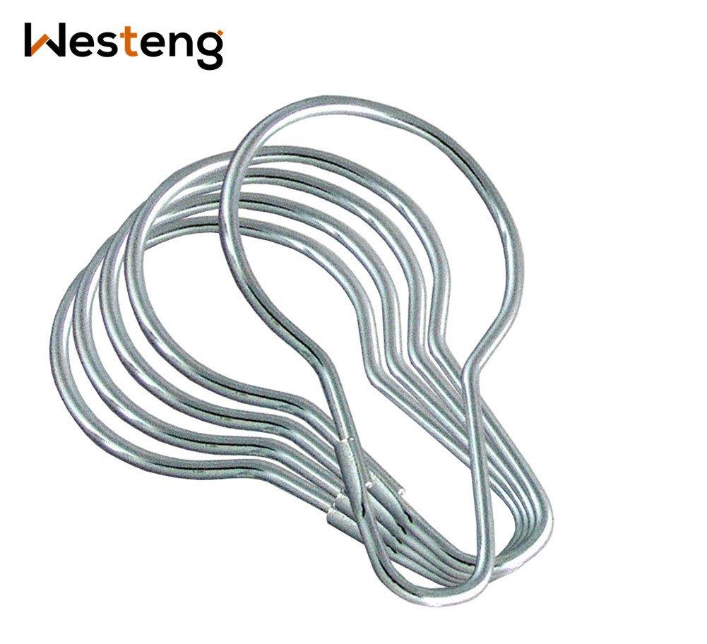 Westeng anelli per tenda doccia gancio tenda gancio in metallo argento anelli, confezione da 50
