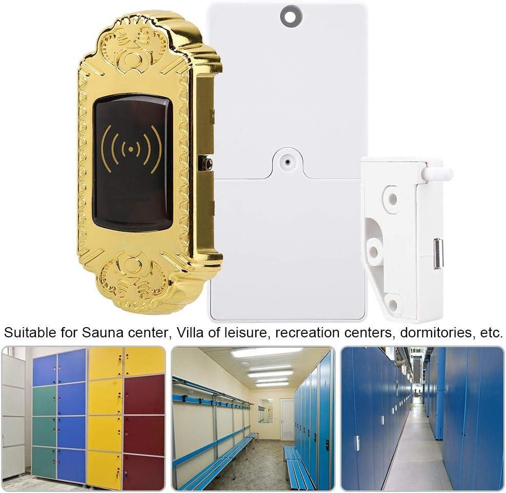 PBZYDU Electronic Magnetic Locker TM Card Security Sauna Gym Room Cabinet Lock Gold #3