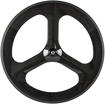 Tri Spoke Front Carbon Bike Wheel 70mm Track//Road Bike Clincher Front Wheel 700C