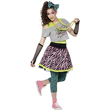 Smiffys Teenager Kostum 80er Jahre Madchen Karneval Fasching Gr Xs