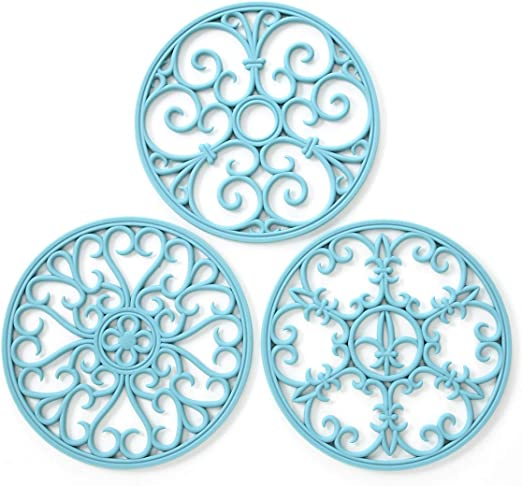 Silicone Trivet Mat - Non-Slip & Heat Resistant Kitchen Hot Pads for  Countertops & Table - Kitchen Trivets for Hot Dishes & Cookware - Hot Pot  Holder ...