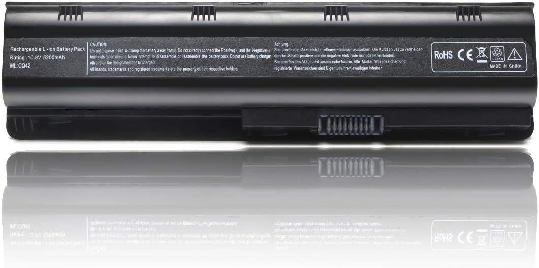 593553-001 MU06 Laptop Battery for HP Pavilion G6 Seires g6-2249wm g6-2235us g6-2210us g6-1b79dx g6-1b59wm g6-1b60us g6-1b39wm g6-1c35dx g6-1c58dx g6-1d38dx g6-1d70us[10.8V 5200mAh 6Cell]