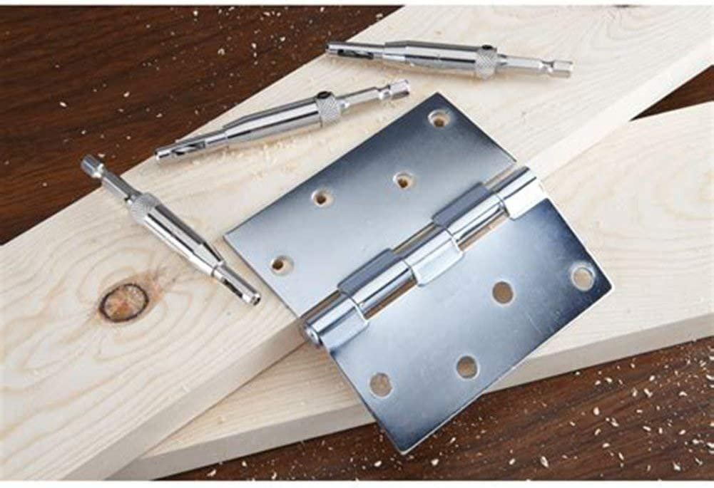 "9//64/"" 11//64/"" 7//64/"" Gasea 4pcs Door Cabinet Self Centering Hinge Drill Bits Set Window Woodworking Puncher Hole Drilling Tool 5//64/"""
