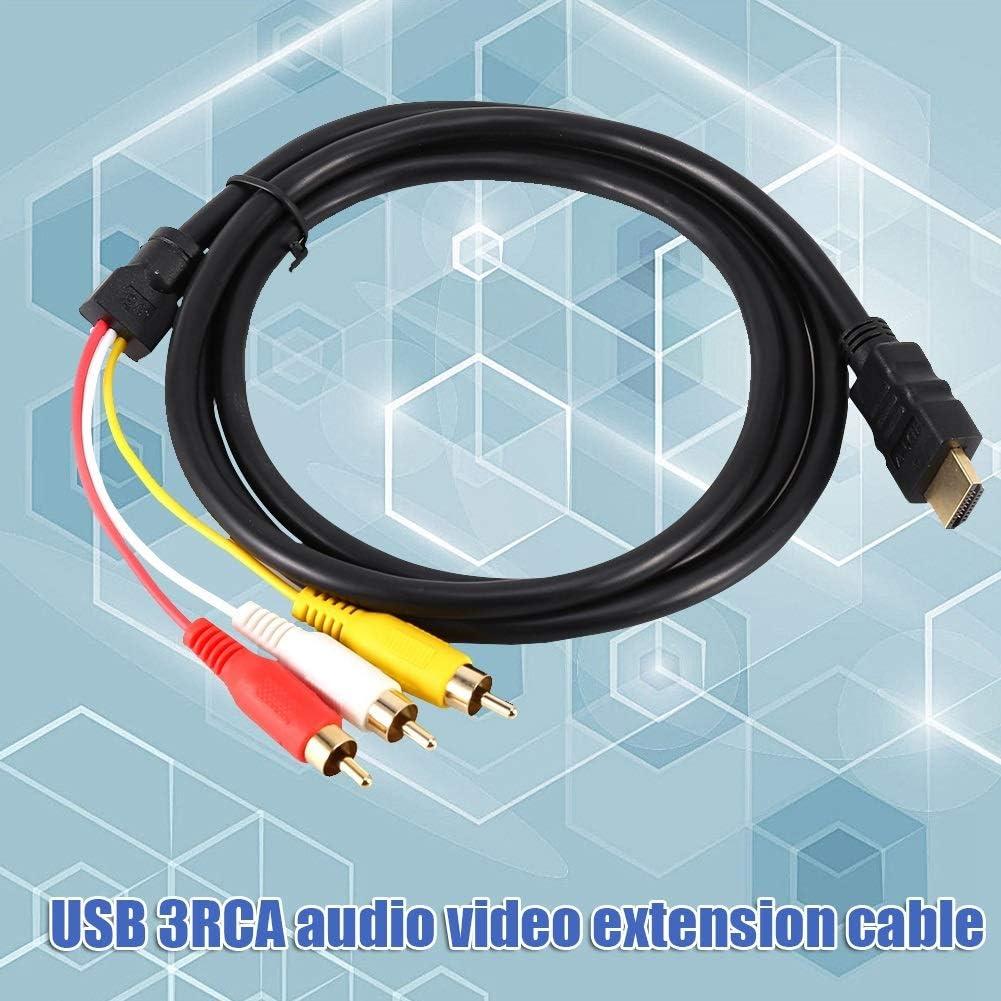 1.5m 5 ft HDMI /à 3 RCA c/âble AV HDMI m/âle /à 3 RCA femelle C/âble AV vid/éo Audio AV composant convertisseur adaptateur 1080P c/âble for HDTV