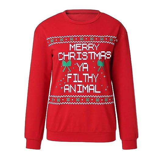 872527763 Amazon.com: DBolomm Women Merry Christmas Letter Print Long Sleeve Sweatshirt  Pullover Blouse Xmas Shirt: Clothing