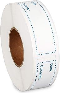 Poxoke Removable Freezer Labels for Food Storage Blue 1x3inch 500pcs