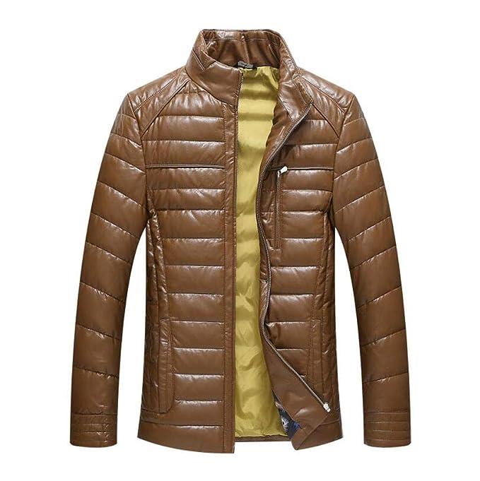 XGHW Chaqueta de plumón para Hombre, Chaqueta de Abrigo Casual, Chaqueta de Invierno.: Amazon.es: Ropa y accesorios