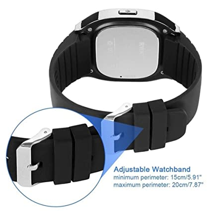 Amazon.com: Digital Watch, Bluetooth Smart Watch Mic Waterproof Digital Watch Compatible Android iOS- Smart Wrist Watch Touch Screen Remote Camera ...