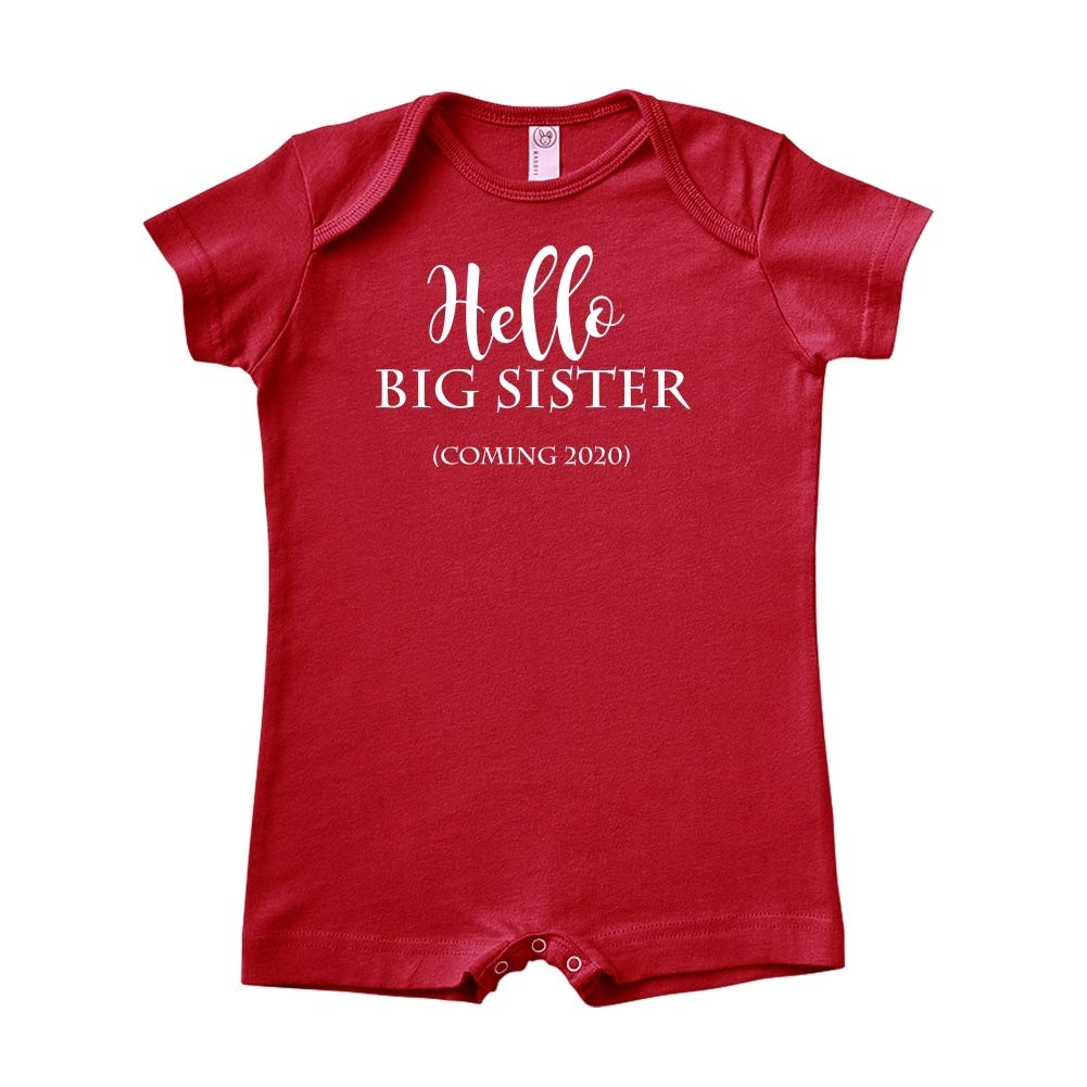 Baby Romper Hello Big Sister Coming 2020 Announcement