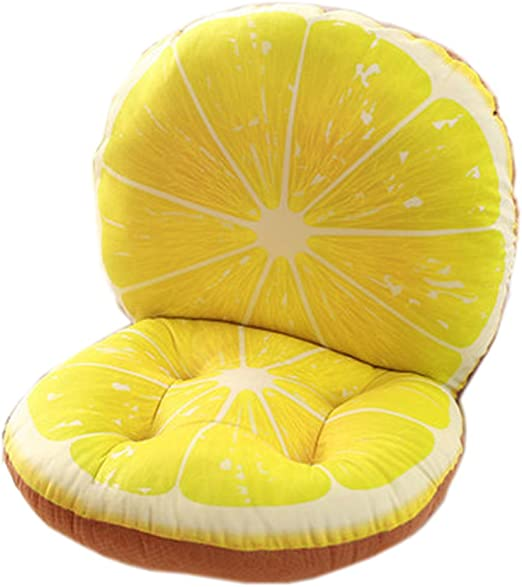 Comfortable Seat Cushion Chair Pad Lemons Pattern Perfect Memory Foam Cushions Lighten The Bumps