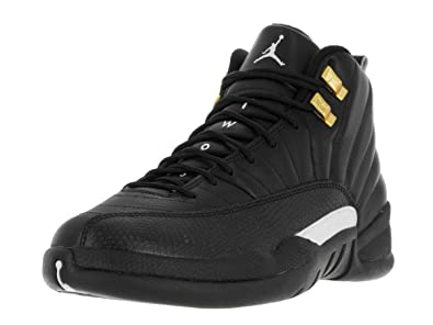 jordan black and gold shoes 12
