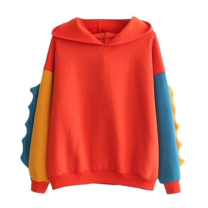 Ydncmgga Bloque de Color Sudadera con Capucha Sudaderas con Capucha Sudadera de Invierno Harajuku (Color