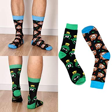 Amazon.com: 2 pares de calcetines divertidos de dibujos ...