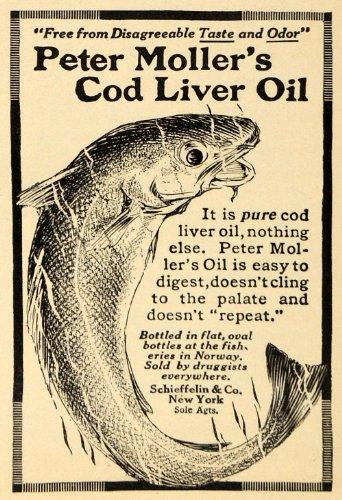 1912 Ad Peter Mollers Cod Liver Oil Schieffelin Company - Original Print Ad