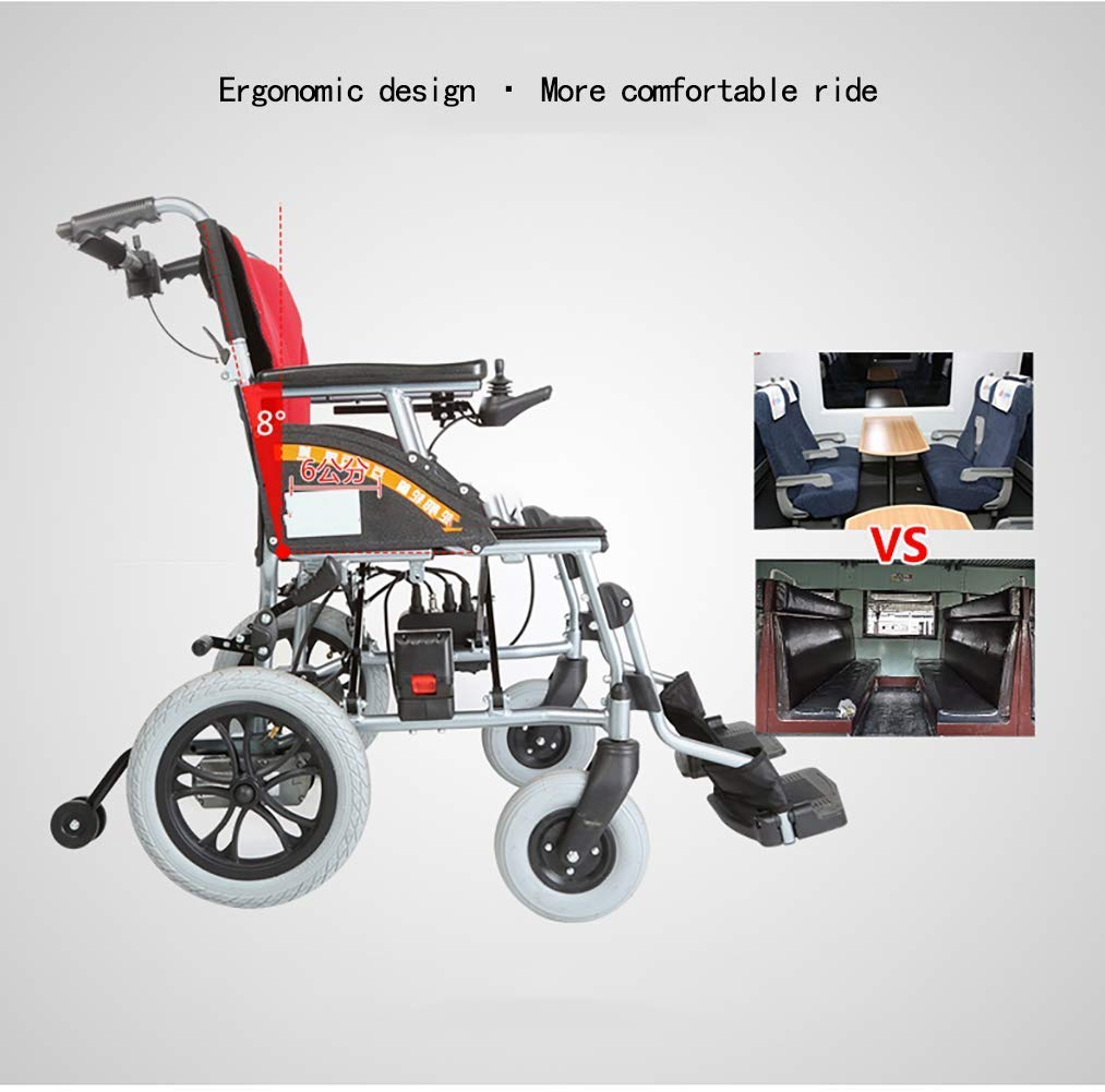 Silla de ruedas eléctrica plegable ligera, silla de ruedas ...