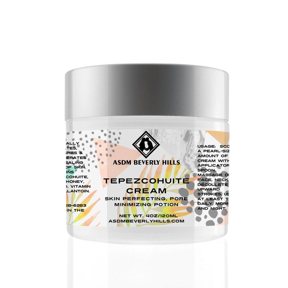 Tepezcohuite Cream with Vitamin E, Vitamin C, Mango & Honey Extract, Aloe Vera- Anti Ageing, Healing, Regenerating 4oz ASDM Beverly HillsTM
