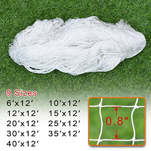 BenefitUSA Sports Nets Replacement Nylon Barrier Net, Multi-Sport Use, Golf Net, LaCrosse, Street Hockey Netting (30' x ()