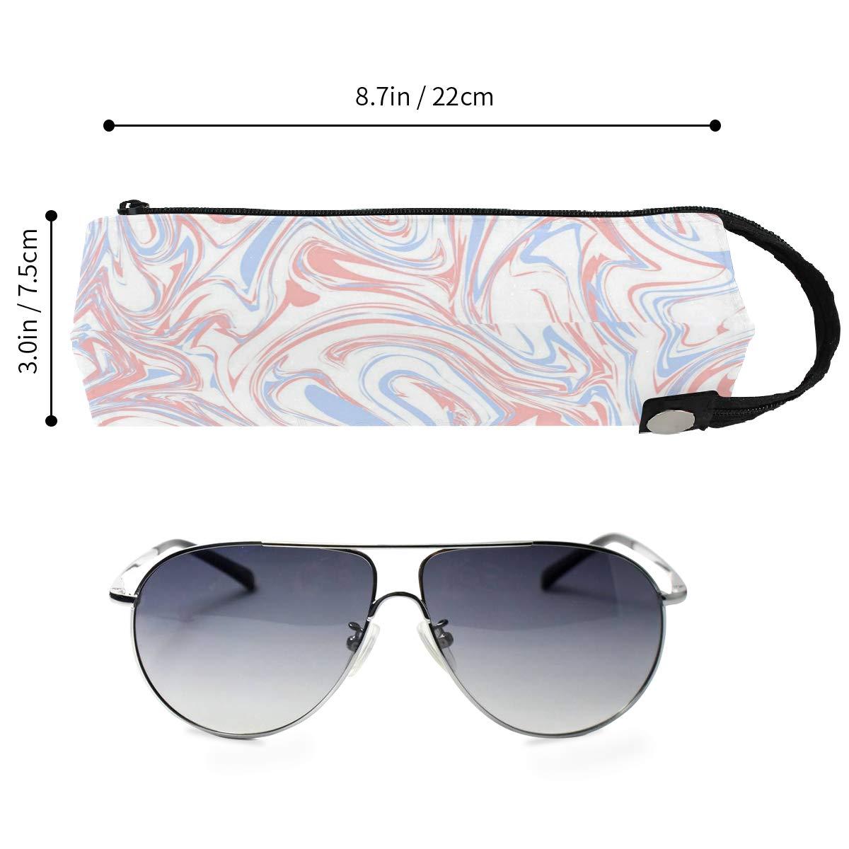 Glasses Case Hipster Marble Texture Portable Soft Sunglasses Pen Bag Protective Box